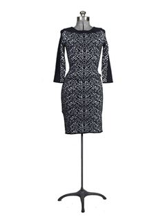 Graham & Spencer - Graphic Jacquard Long Sleeve Dress