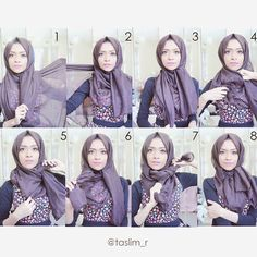 This is a stylish hijab tutorial with a beautiful tied knot on the side adding a classy look to your outfit, this could go with an abaya or a maxi dress and of course with any office outfit you decide…