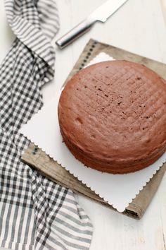 masam manis: Kek Asas 3 Kek Span Coklat yang mudah