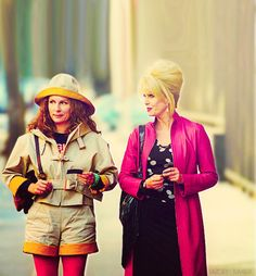 Edina Monsoon is a known for a great many things - style icon being one of them. Join us as we revisit some of Edina's best (and worst) outfits. Edina Monsoon, Patsy And Edina, 60s And 70s Fashion, British Fashion, Jennifer Saunders, Joanna Lumley, 30 Outfits, Ab Fab, Absolutely Fabulous