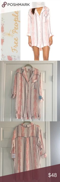 Free People lounge shirt Intimately Free People gardenia combo lounge shirt, size XS.  So cute!  NWT Free People Intimates & Sleepwear Robes