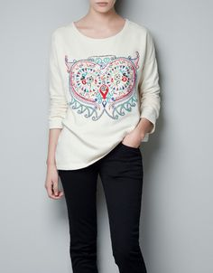 BEADED SWEATER - T-shirts - TRF - ZARA United States