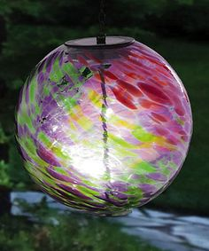 Another great find on #zulily! Hanging Solar Gazing Ball #zulilyfinds