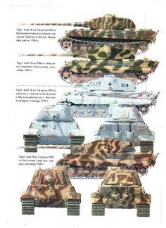 camouflage Tiger II tourelle Porsche et Henshell