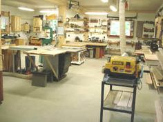 Photos of Inside the woodshop where handcrafted woodworking is performed such as funiture, jewelry boxes, custom cabinets and interior doors