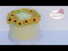 LECKERE Orangencreme Torte mit Sonnenblumen aus Fondant | Rezept von Nic...