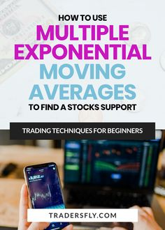 Stock Market - Do you want to know how to use multiple exponential moving averages to find stocks support? Check this out! Stock Charts, Moving Average, Knowledge And Wisdom, Technical Analysis, Educational Videos, Trading Strategies, Make More Money, Stock Market, Being Used