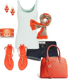 """""""Orange in the Summer"""" by somanysparkles on Polyvore"""