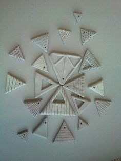 Ceramic necklace pieces