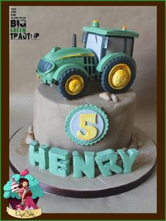 My Big Green Tractor Big Green Tractor x ...the big green tractor comes out to play once more....A rice krispy treat tractor and a yummy...