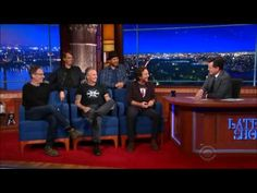 Pearl Jam Interview with Stephen Colbert on The Late Show 2015 - YouTube