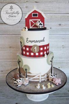 Farmyard birthday cake