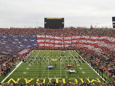 University of Michigan - American Flag Formed at Michigan Stadium Photographic Print at AllPosters.com