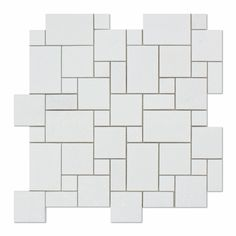 Buy Thassos White Marble Honed Mini Versailles Mosaic Tile Sample Product Attributes - Item: Premium (SELECT) Quality Greek Thassos White Marble HONED MINI VERSAILLES MOSAIC TILE (ON-MESH) - Dimension