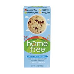 Home Free Chocolate Chip Cookies - gluten, egg, nut, corn and dairy free. Taste like Chips Ahoy!