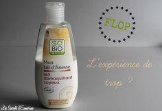 Flop : un démaquillage qui tourne au drame ! lait démaquillant soyeux, lait d'anesse de chez so bio etic http://lessecretsdesmerine.eklablog.fr/flop-un-demaquillage-qui-tourne-au-drame-a117623322