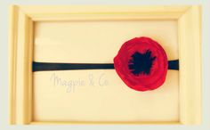 red poppy baby/children's headband or clip by MagpieandCo on Etsy