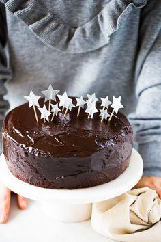 Double chocolate vegan birthday cake