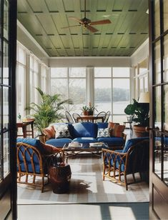 subtle style in porch designed by Thomas Jayne Exterior, outdoor living, design Outdoor Rooms, Outdoor Living, Outdoor Furniture Sets, Rattan Furniture, Outdoor Kitchens, Furniture Plans, Kids Furniture, Garden Furniture, Bedroom Furniture