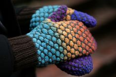 Ravelry: Stained Glass Bubble Mittens pattern by Jen Hurley