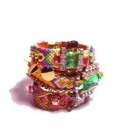 SS2012 Vintage Rhinestone Friendship Bracelet  by PureEssentia, $90.00