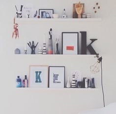 Wall shelving and styling