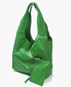 Celine Cabas Lambskin Bag Green