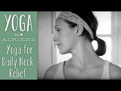 """Our """"silent"""" series continues with Yoga For Daily Neck Relief. This sequence is simple but so rewarding! Take the time to connect to your body and relieve your head, neck and shoulders from pain and discomfort. Remember the key word here is PRACTICE. Practice checking in with your neck daily and I believe you will discover a lighter, happier you! Even if you do not have neck pain, practice good neck hygiene! It is all connected baby. For more free yoga videos, visit http://yogawithadriene.com."""
