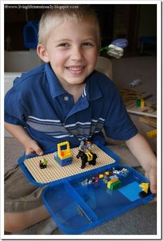DIY Lego Travel Case - kids of all ages will love this easy project to take on a family vacation, roadtrip game, or for while they wait at the doctor's office.