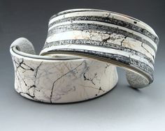 Contemporary cuff bracelets by Stonehouse Studio.