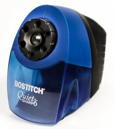 The great Stanley Bostitch QuietSharp6(TM) Classroom Pencil Sharpener With 6-holes and Quiet Motor, Blue (EPS10HC)