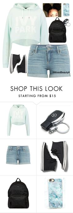 """Untitled #354"" by iimixedbeautyii ❤ liked on Polyvore featuring Ivy Park, Mercedes-Benz, Paige Denim, Keds, Hogan and Casetify"