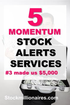 Momentum stocks can be very profitable and help you make a lot of money if you know how to pick the best stocks. These 5 momentum stock trading alerts services can help you! #finance #stocks