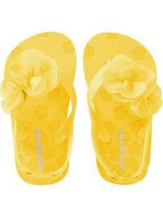 Rosette-Applique Flip Flops for Baby | Old Navy