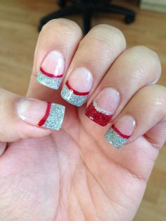 30 Festive Christmas Acrylic Nail Designs Accent Nails Christmas