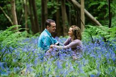 Engagement Photo Shoot in the Bluebell Woods near Bristol