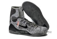 66d86e0547aa Buy Cheap Nike Kobe 9 2014 High Tops Grey Black Mens Shoes Online GrNBa