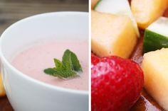 Summer Food: Gazpacho mit Erdbeeren, Melone und Gurke. Leicht und fruchtig