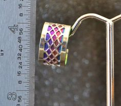 Narrow Niobium and Sterling Filigree Earcuff by AngelwearCreations