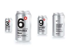 Helvetica Beer Packaging Appeals Editorial-Inclined Graphic Designers #typography #typographyproducts trendhunter.com