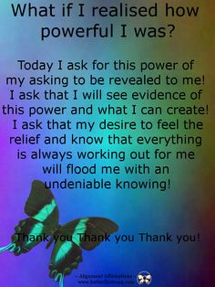 What if I realised how powerful I was?! https://www.facebook.com/AlignmentAffirmations