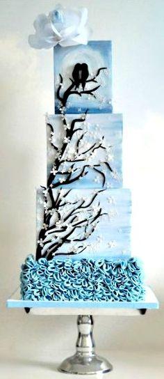 Lovebirds in the MoonLight Cake