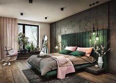 Smaragdgrønn seng