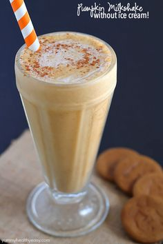 Pumpkin Milkshake without Ice Cream - Creamy, smooth pumpkin milkshake made without ice cream! Once you try this method, you'll never make a milkshake with ice cream again!