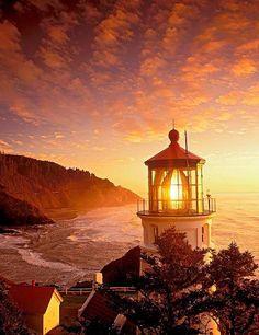 sundown and the lighthouse