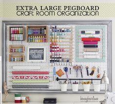 Craft Room - Pegboard - thread and scissors