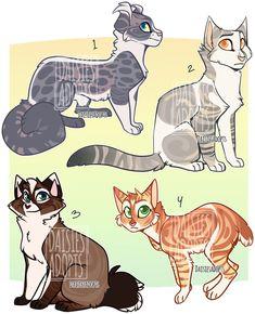 Auctions by DaisiesAdopts on DeviantArt Warrior Cat Drawings, Cat Whisperer, F2 Savannah Cat, Warrior Cats Art, Cat Design, Beautiful Cats, Cat Memes, Cat Art, Animal Drawings