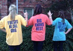 GBig, Big, Little shirts