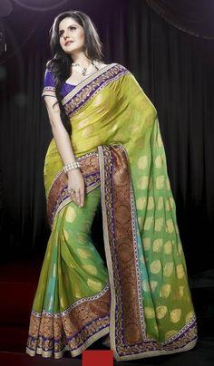 70b584951 Pista Green Viscose Embroidered Wedding Wear Saree. Product code  G3-LS8227  Price