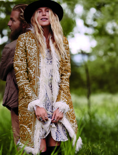 Dree Hemingway shows off Free People's F/W'14 Collection